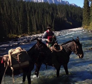 Tyler Tentside Foreman with Banff Trail Riders