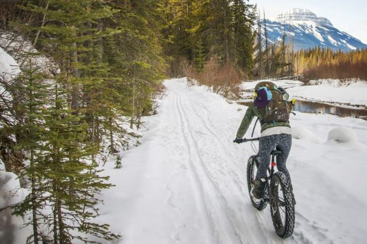 Fat Biking to Sundance Lodge in Banff, Canadian Rockies
