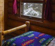 Comfortable Bedroom at Backcountry Sundance Lodge with Banff Trail Riders