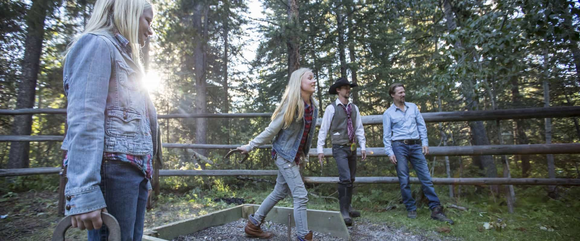 Throw horseshoes on the cowboy cookout with Banff Trail Riders