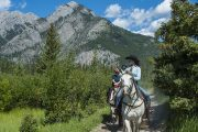 Ride into Banff's backcountry on a horseback trail ride from Warner Stables with Banff Trail Riders in the Canadian Rockies