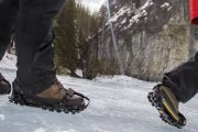 Wear ice cleats on the Grotto Canyon Icewalk