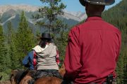 Afternoon Ride to Stoney Camp on the Stoney Creek Backcountry Tent Trip with Banff Trail Riders in the Canadian Rockies