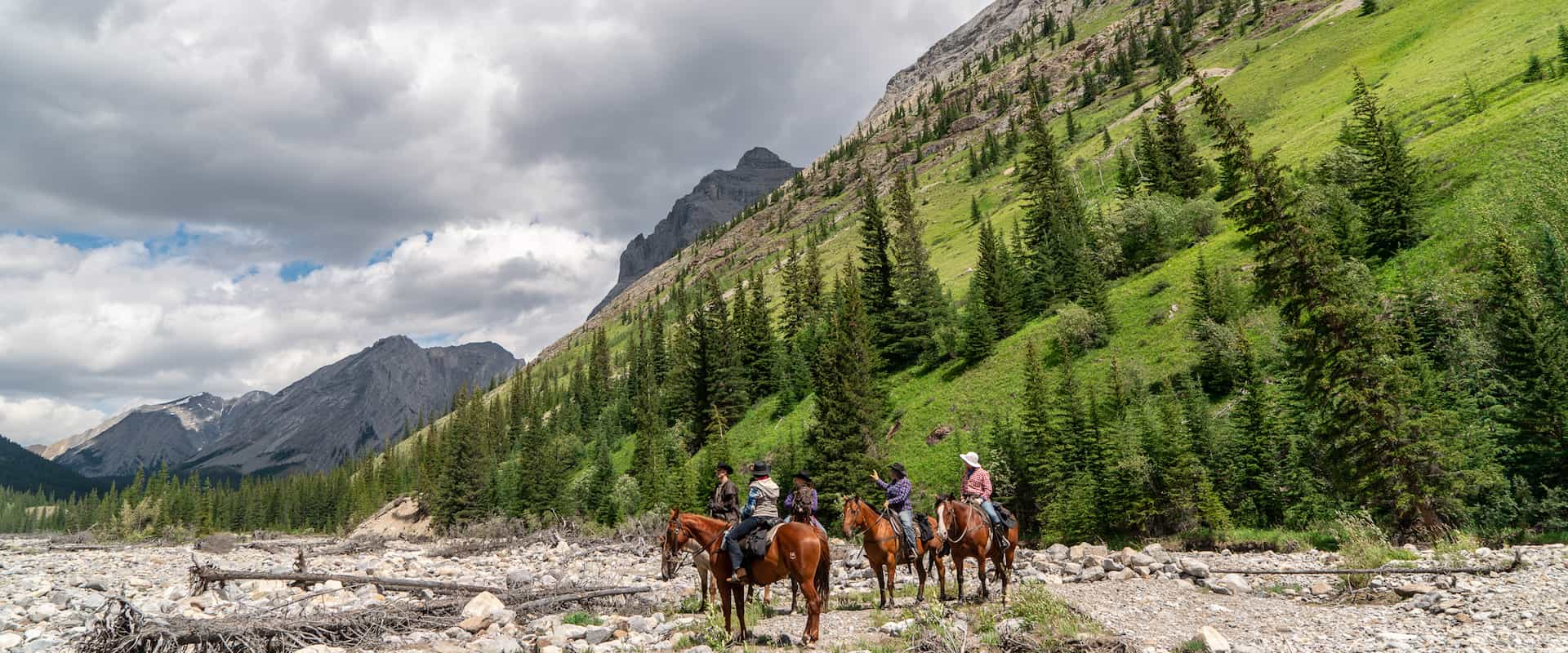 Day Ride from Stoney Camp on the Stoney Creek Tent Trip with Banff Trail Riders in the Canadian Rockies