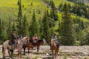 Take a day ride from Stoney Camp on the Stoney Creek Backcountry Tent Trip with Banff Trail Riders in the Canadian Rockies