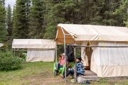Day 2 at Stoney Camp on the Stoney Creek Backcountry Tent Trip with Banff Trail Riders in the Canadian Rockies