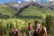Heading to Flints Camp on the Cascade Valley Backcountry Tent Trip with Banff Trail Riders in the Canadian Rockies