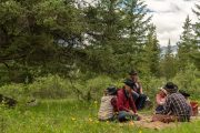 Picnic Lunch on the Cascade Valley Backcountry Tent Trip with Banff Trail Riders in the Canadian Rockies