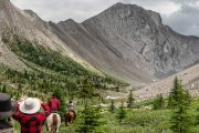 Day Ride from Flints Camp on the Cascade Valley Backcountry Tent Trip with Banff Trail Riders in the Canadian Rockies