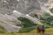 Day 4 Day Ride to Cuthead Lake on the Cascade Valley Backcountry Trip with Banff Trail Riders in the Canadian Rockies