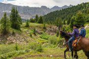 Ride from Flints Camp on the Cascade Valley Backcountry Tent Trip with Banff Trail Riders in the Canadian Rockies