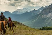 Take a Backcountry Day Ride to Cuthead Lake on the Cascade Valley Backcountry Tent Trip with Banff Trail Riders in the Canadian Rockies