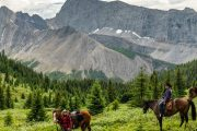 Take a Day Ride from Flints Camp on the Cascade Valley Backcountry Tent Trip with Banff Trail Riders in the Canadian Rockies