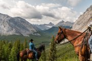 Take a Day Ride to Cuthead Lake from Flints Camp on the Cascade Valley Backcountry Tent Trip with Banff Trail Riders in the Canadian Rockies