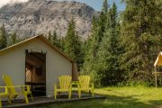 Flints Camp Family Tent on the Cascade Valley Backcountry Tent Trip with Banff Trail Riders in the Canadian Rockies
