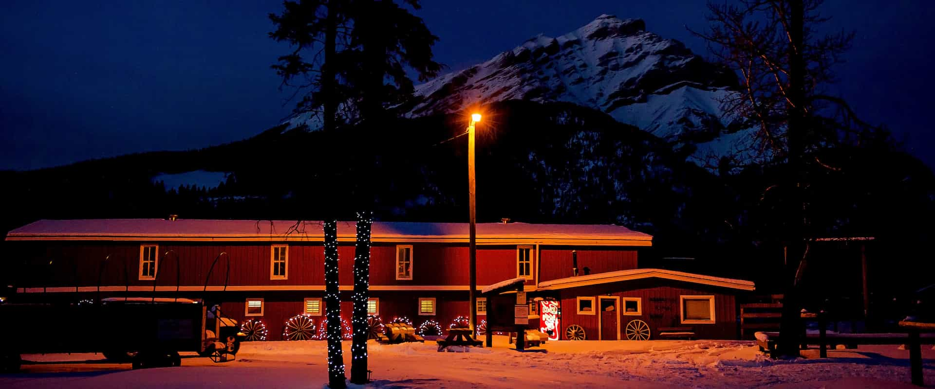 See Warner Stables transformed into a charming winter market at the Banff Christmas Market