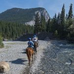 Take a horseback ride through the Spray River