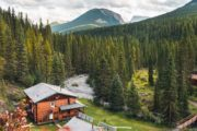 Stay at comfortable and cozy Sundance Lodge on a horseback trip with Banff Trail Riders