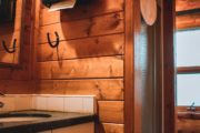 Sundance Lodge has indoor washroom facilities and hot showers