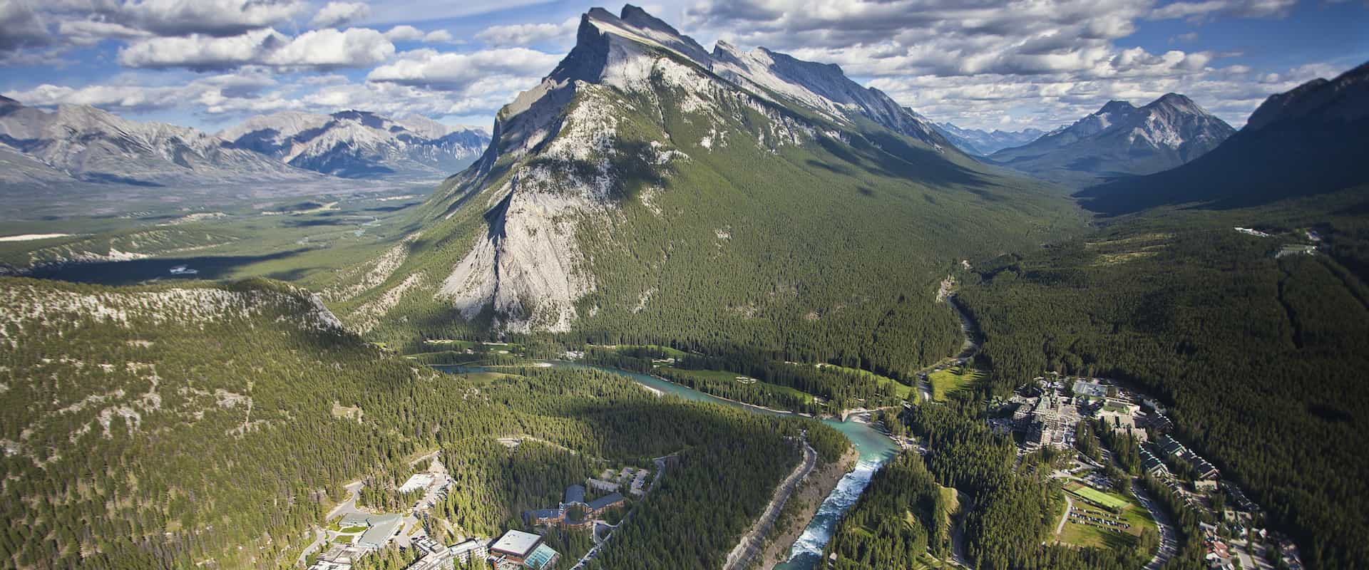 Banff National Park Aerial View