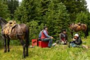 Enjoy delicious trailside lunches in Banff National Park on a backcountry trip