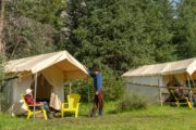 Sleep on a comfortable camp cot on a backcountry tent trip