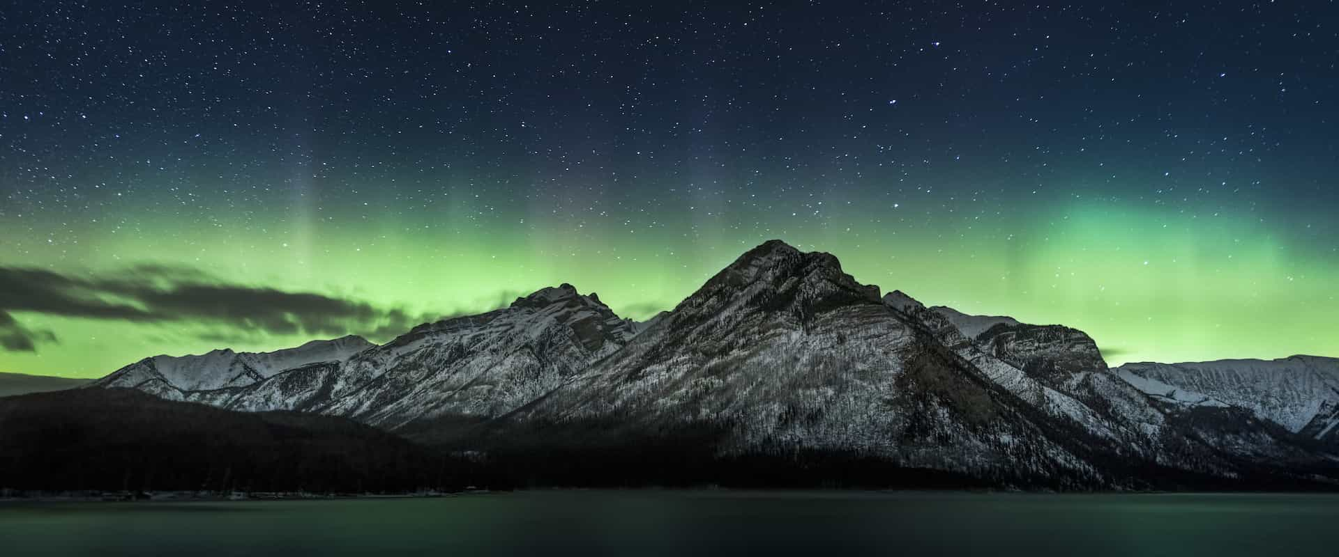 Northern lights in Banff National Park