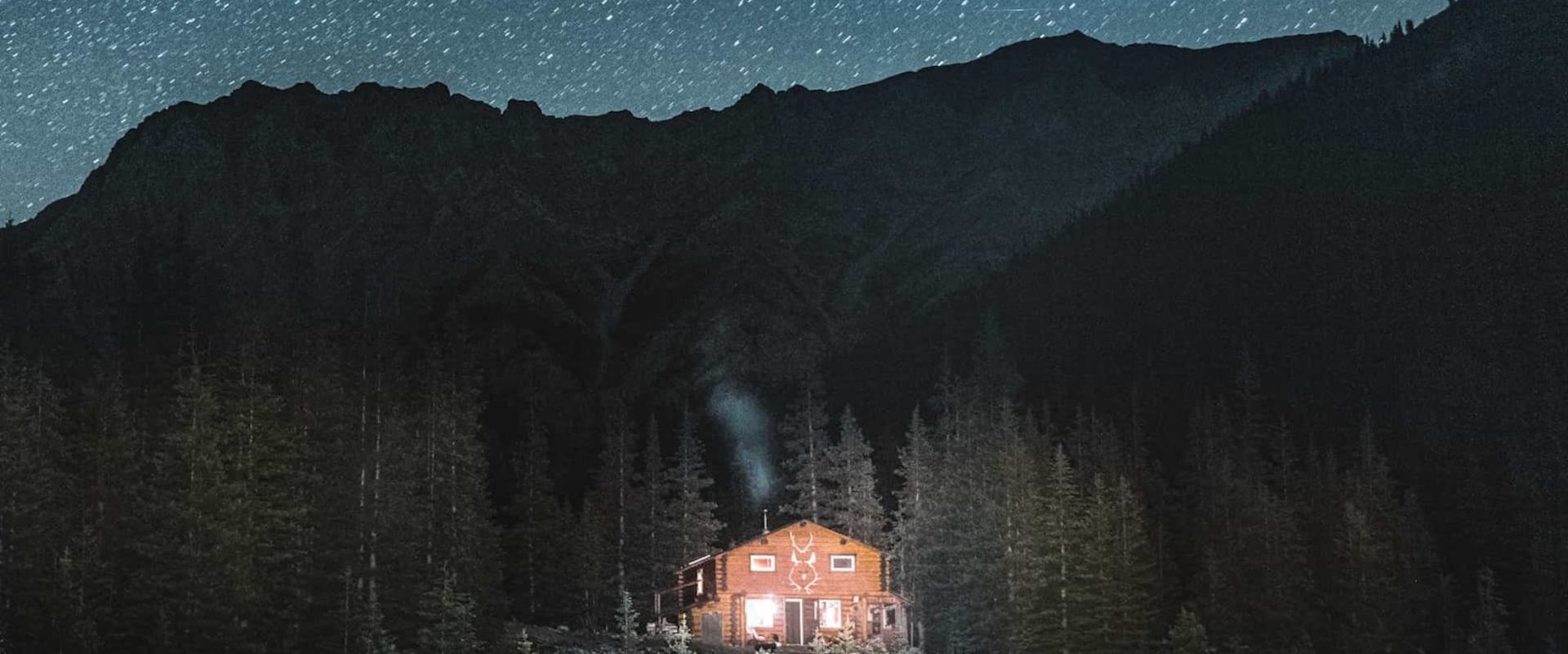 Night sky and stars at Halfway Lodge