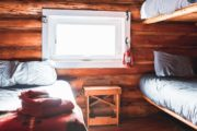 Sleep in comfort at Halfway Lodge on a backcountry vacation