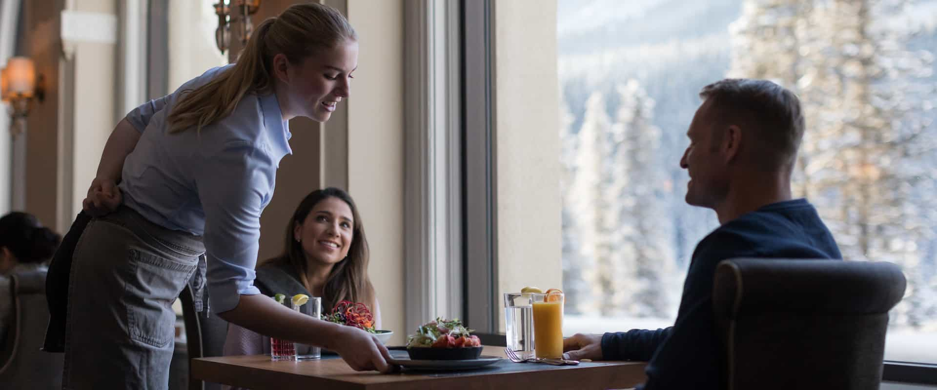 Dine at the Fairmont Chateau Lake Louise